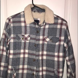 Gap kids insulated jacket boys flannel size large